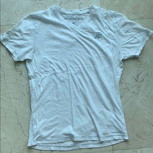 Aeropostale Small White V Neck T Shirt